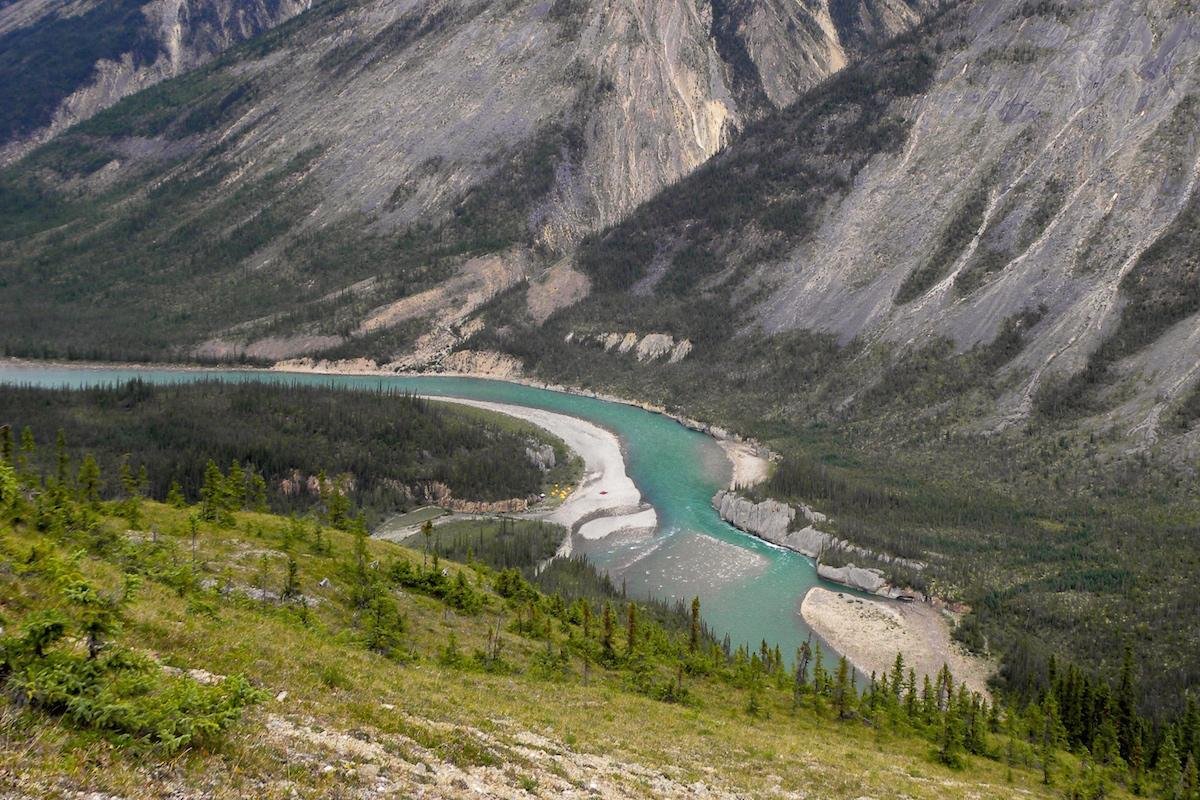 Banner 7 of 10: The turquoise waters of the Keele River, NWT.